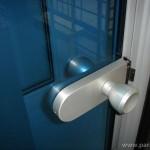 Дръжка за стъклена врата - алуминий, топка, без заключване