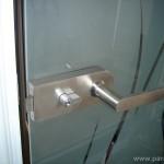 Дръжка за стъклена врата - инокс, стандарт, със заключване
