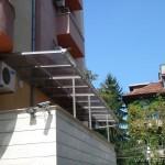 Метална конструкция с поликарбонат и улуци