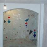 Стъклен портал без рамки от витражно стъкло