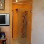 Стъклена врата, отваряема в двете посоки