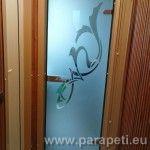 Панелно жилище - стъклена врата