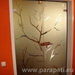 """Двойна стъклена врата с рисунка """"сухо дърво"""""""