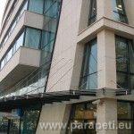 Козирка - алуминий + стъкло - офис сграда, бул. Т. Александров