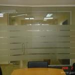 Преградни стени - стъкло с фолио